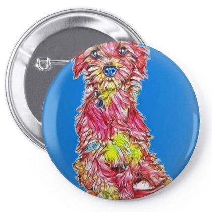 Shy And Scared Young Rescue D Pin-back Button Designed By Kemnabi