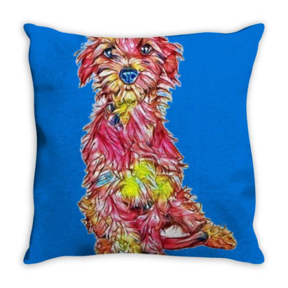 Shy And Scared Young Rescue D Throw Pillow Designed By Kemnabi