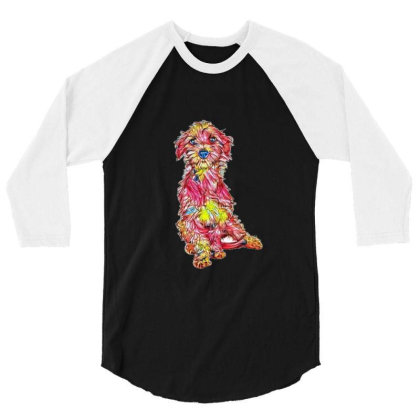 Shy And Scared Young Rescue D 3/4 Sleeve Shirt Designed By Kemnabi