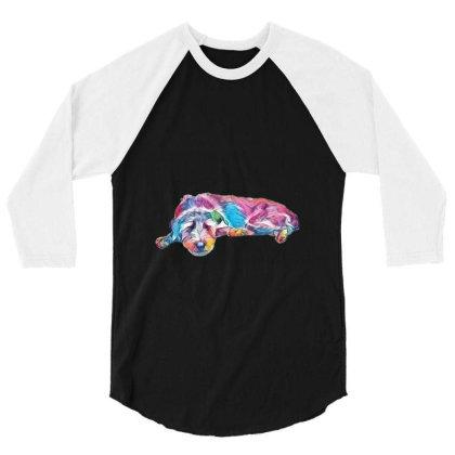 Mixed Breed Medium Sized Grey 3/4 Sleeve Shirt Designed By Kemnabi