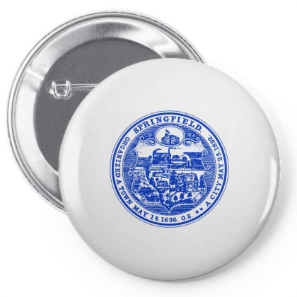 163   Springfield, Massachusetts Pin-back Button Designed By L4l4pow