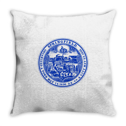 163   Springfield, Massachusetts Throw Pillow Designed By L4l4pow
