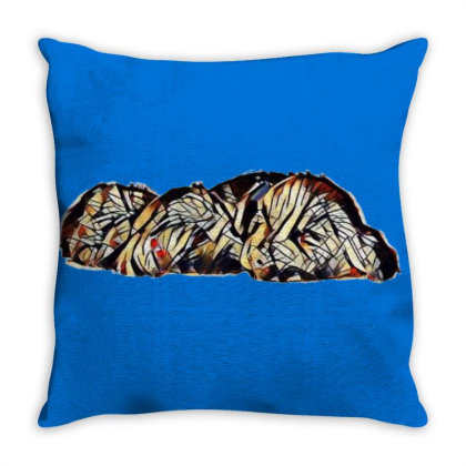 Two Adorable Little Black Cro Throw Pillow Designed By Kemnabi