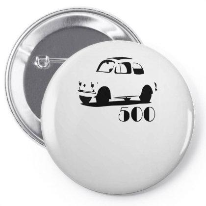 500 Fiat Vintage Auto Pin-back Button Designed By L4l4pow