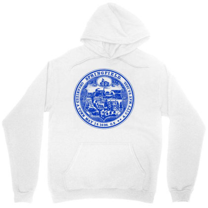 163   Springfield, Massachusetts Unisex Hoodie Designed By L4l4pow