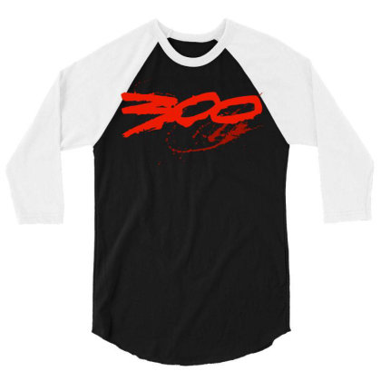 300 King Leonidas Spartan 3/4 Sleeve Shirt Designed By L4l4pow