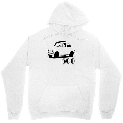 500 Fiat Vintage Auto Unisex Hoodie Designed By L4l4pow