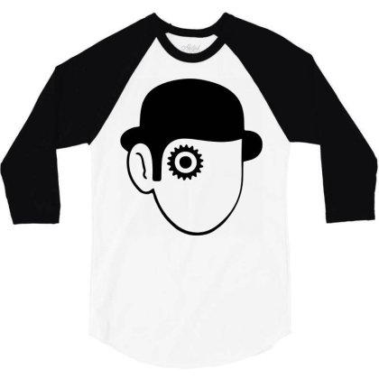 A Clockwork Orange Droog 3/4 Sleeve Shirt Designed By L4l4pow