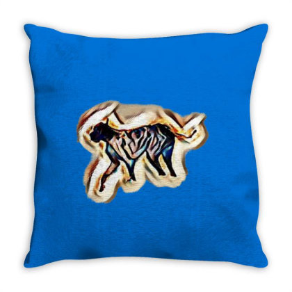 Two Adorable Little Black Col Throw Pillow Designed By Kemnabi