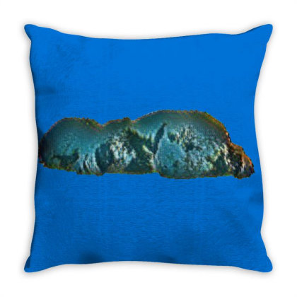 Small Mixed Breed Dog Standin Throw Pillow Designed By Kemnabi