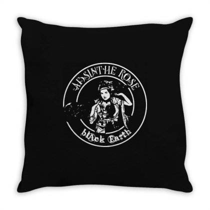 Absinthe Rose Throw Pillow Designed By L4l4pow