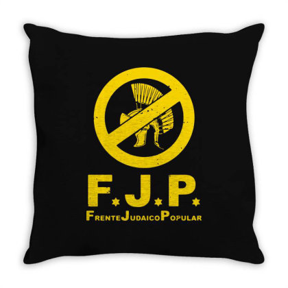 Against Popular Jewish Throw Pillow Designed By L4l4pow