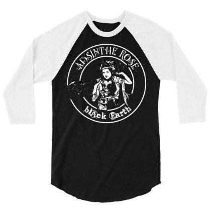 Absinthe Rose 3/4 Sleeve Shirt Designed By L4l4pow