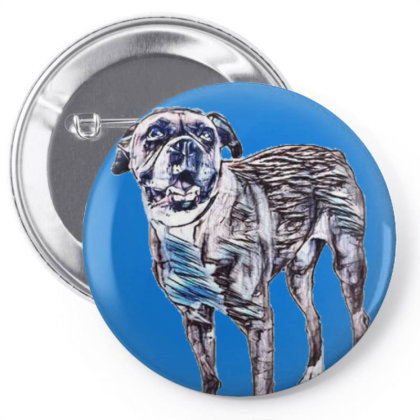 Happy Boxer Breed Dog Wearing Pin-back Button Designed By Kemnabi