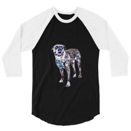 Happy Boxer Breed Dog Wearing 3/4 Sleeve Shirt Designed By Kemnabi