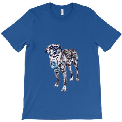 Happy Boxer Breed Dog Wearing T-shirt Designed By Kemnabi