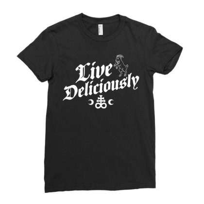 Live Deliciously   Occult Witch Ladies Fitted T-shirt Designed By G3ry