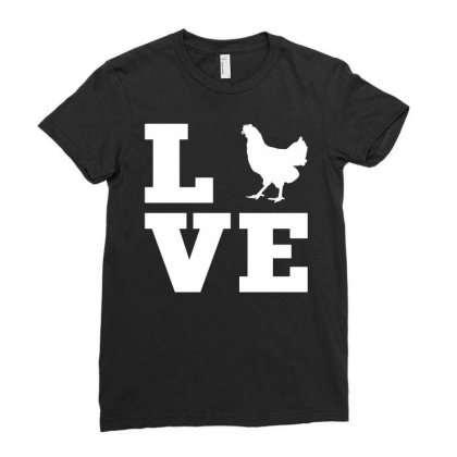Love Chicken Ladies Fitted T-shirt Designed By G3ry