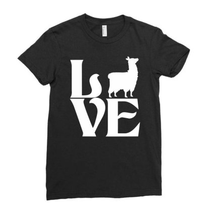 Love Llama Ladies Fitted T-shirt Designed By G3ry