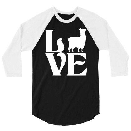 Love Llama 3/4 Sleeve Shirt Designed By G3ry
