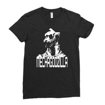 Mechagodzilla Ladies Fitted T-shirt Designed By G3ry