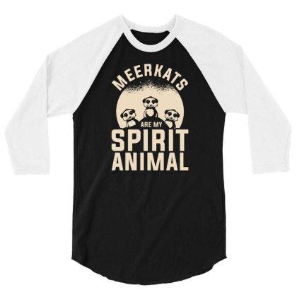 Meerkats Safari Wildlife Meerkat 3/4 Sleeve Shirt Designed By G3ry