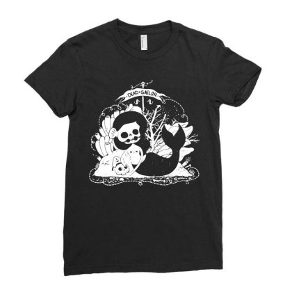 Mermaid Ladies Fitted T-shirt Designed By G3ry
