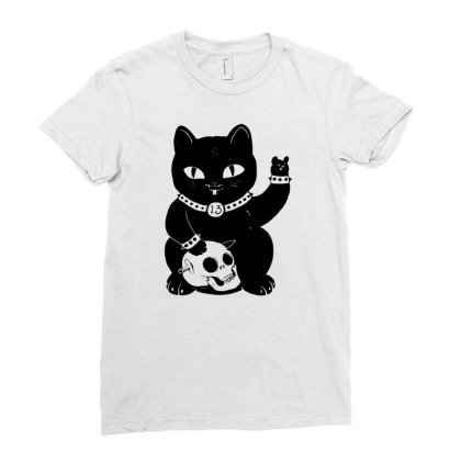 Misfortune Cat Ladies Fitted T-shirt Designed By G3ry