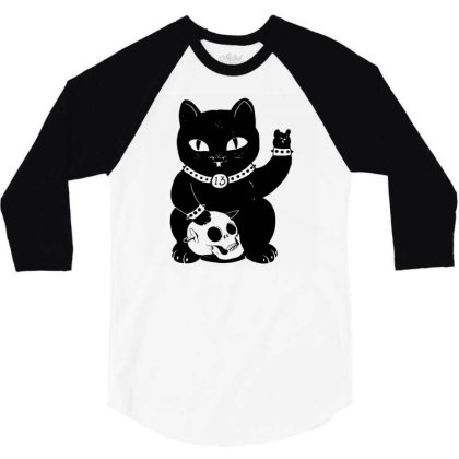 Misfortune Cat 3/4 Sleeve Shirt Designed By G3ry