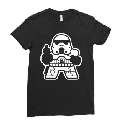 Mitesized Trooper   Cute Cartoon Sci Fi Ladies Fitted T-shirt Designed By G3ry