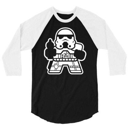 Mitesized Trooper   Cute Cartoon Sci Fi 3/4 Sleeve Shirt Designed By G3ry