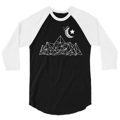Mountain Moon Hiking 3/4 Sleeve Shirt Designed By G3ry