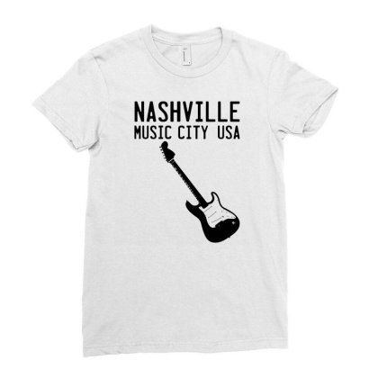 Music City Ladies Fitted T-shirt Designed By G3ry