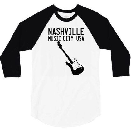 Music City 3/4 Sleeve Shirt Designed By G3ry