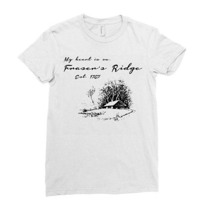 My Heart Is On Fraser's Ridge Ladies Fitted T-shirt Designed By G3ry