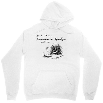My Heart Is On Fraser's Ridge Unisex Hoodie Designed By G3ry