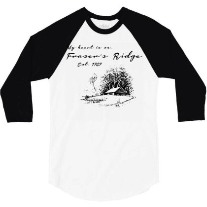 My Heart Is On Fraser's Ridge 3/4 Sleeve Shirt Designed By G3ry