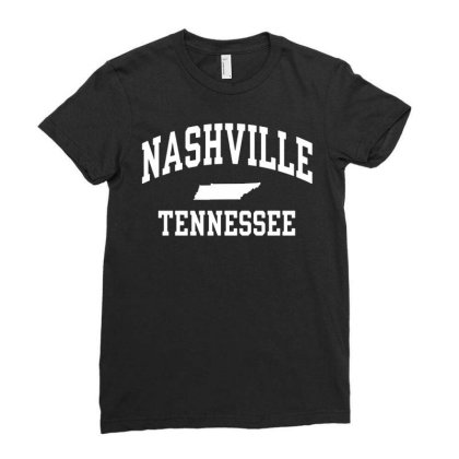 Nashville, Tn Ladies Fitted T-shirt Designed By G3ry