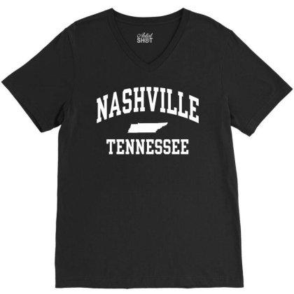 Nashville, Tn V-neck Tee Designed By G3ry