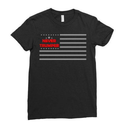 Never Trumper Ladies Fitted T-shirt Designed By G3ry