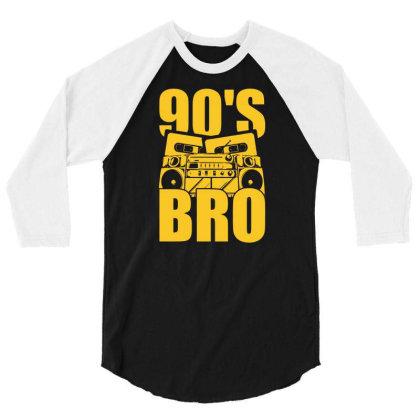 Nineties Bro 90s 3/4 Sleeve Shirt Designed By G3ry