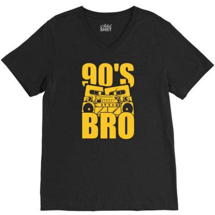 Nineties Bro 90s V-neck Tee Designed By G3ry