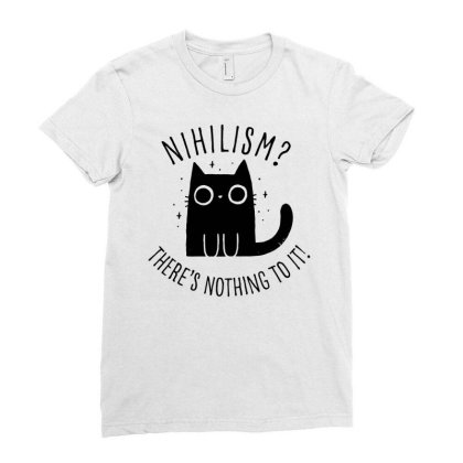 Nihilism Cat Ladies Fitted T-shirt Designed By G3ry
