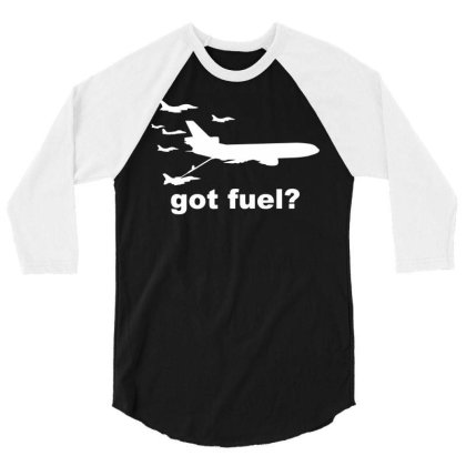 Nobody Kicks Ass Without The Gas 3/4 Sleeve Shirt Designed By G3ry