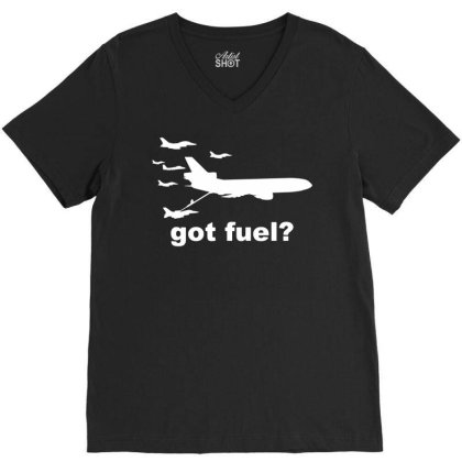 Nobody Kicks Ass Without The Gas V-neck Tee Designed By G3ry