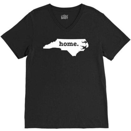 North Carolina Home V-neck Tee Designed By G3ry