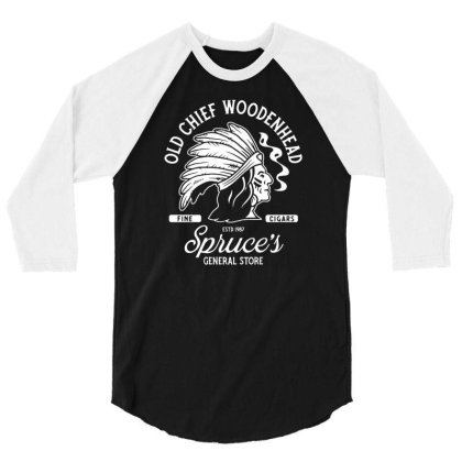 Old Chief Woodenhead Black & White  Stephen King   Vintage Distressed 3/4 Sleeve Shirt Designed By G3ry