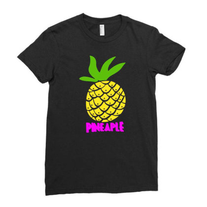 Pineaple Ladies Fitted T-shirt Designed By G3ry