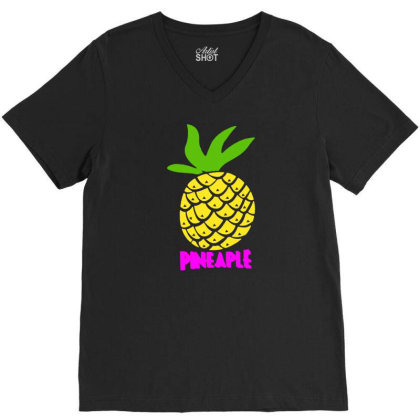 Pineaple V-neck Tee Designed By G3ry