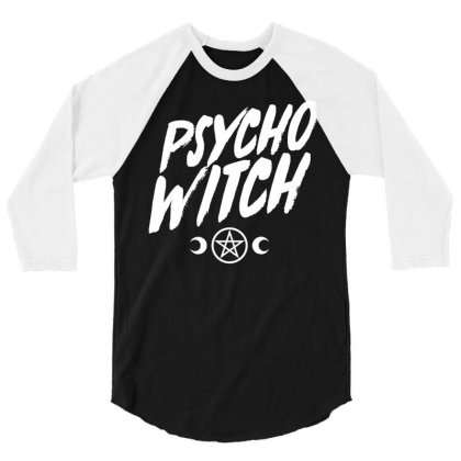 Psycho Witch 3/4 Sleeve Shirt Designed By G3ry